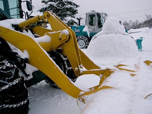 雪国で活躍する面々