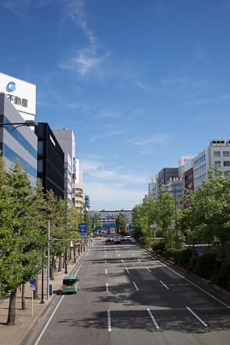 新潟市の夏空